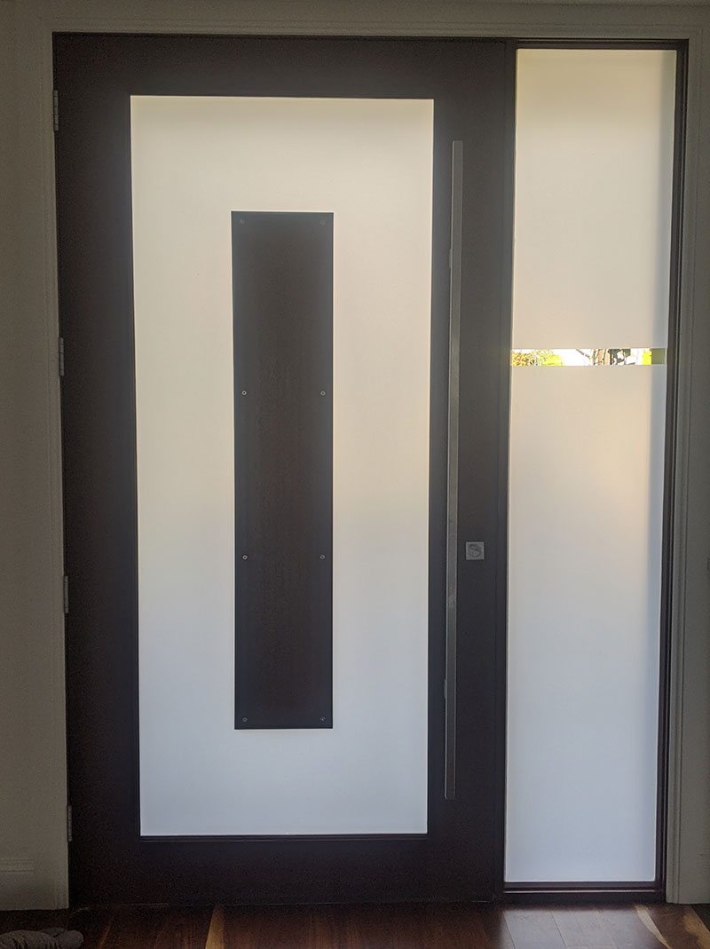 Frosted Glass - Front Door