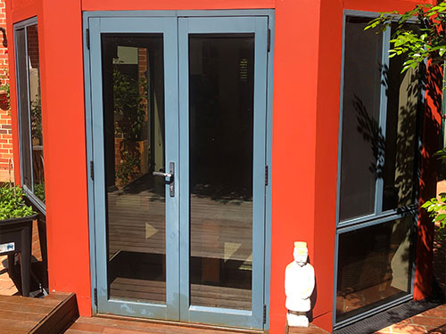 Safety tinting on door